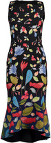 Peter Pilotto Printed Cady Kia Frill Dress
