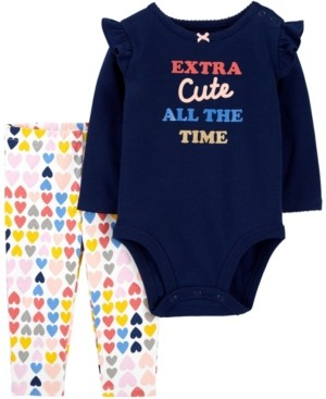 Carter's Baby Girls 2-Piece Extra Cute Bodysuit Pant Set