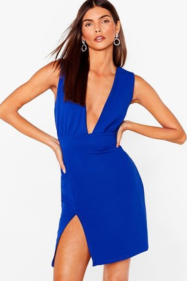 Nasty Gal Womens Deep On Dancing Mini Dress - Cobalt