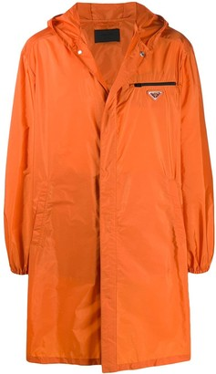 Prada Zipped Pocket Long Raincoat