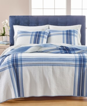 Martha Stewart Collection Engineered Plaid Reversible Twin/Twin Xl Quilt, Created for Macy's