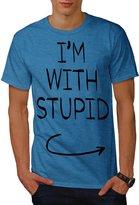 With Stupid Sarcasm Funny Funny Word Men XXXL T-shirt   Wellcoda