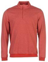 Ashworth Mens Heathered Stripe Half Zip Pullover Sweater Jumper Cotton Pattern