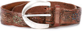 Orciani floral engraved belt - women - Leather - 90