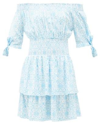 Melissa Odabash Camilla Amalfi Celeste Tile-print Mini Dress - Blue Print