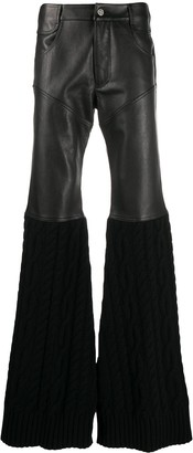 Telfar Panelled Flared-Leg Trousers