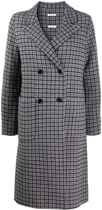 P.A.R.O.S.H. Checked Double-Breasted Coat