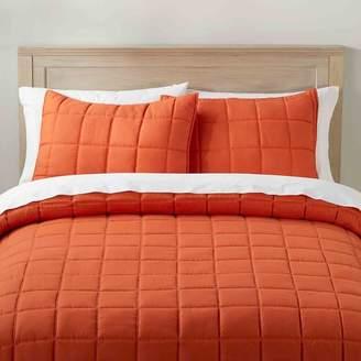 Pottery Barn Teen Super Soft Microfiber Comforter, Full/Queen, Gray
