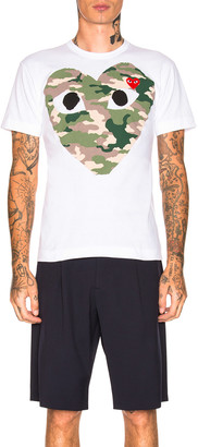 Comme des Garcons Camouflage Tee in White | FWRD