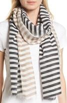 Eileen Fisher Women's Stripe Organic Cotton & Silk Scarf