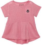 True Religion Glitter Stripe Peplum Tee (Toddler & Little Girls)