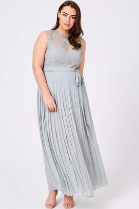 Lissa Waterlily Lace Pleat Maxi