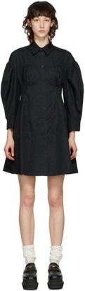 Simone Rocha Black Corset Shirt Dress