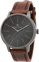 Rip Curl Drake Leather Watch Grey