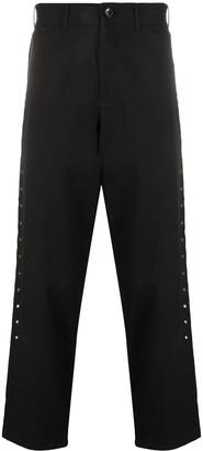 Black Comme Des Garçons Stud-Embellished Wide-Leg Trousers
