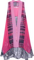 Diane von Furstenberg Lipari floral-print silk-chiffon vest