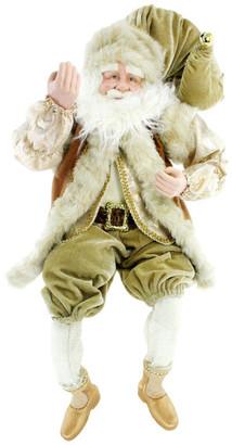 Renaissance2000 Sitting Velvet Santa Figurine