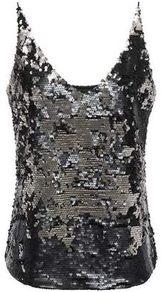 J Brand Sequined Tulle Camisole