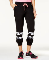 Material Girl Active Juniors' Colorblock Sweatpants, Only at Macy's