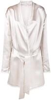 ATTICO The frayed metallic-sheen robe jacket