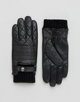 Dents Lymington Quilted Leather Gloves