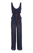 Martin Grant Straight Cut Linen Jumpsuit