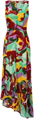 La DoubleJ Pina Printed Silk-Blend Dress