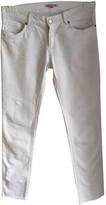 Bonpoint White Cotton Jeans for Women