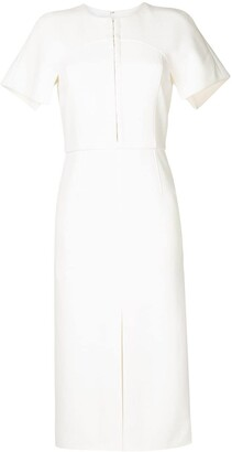 Dion Lee Short-Sleeve Midi Silk Dress