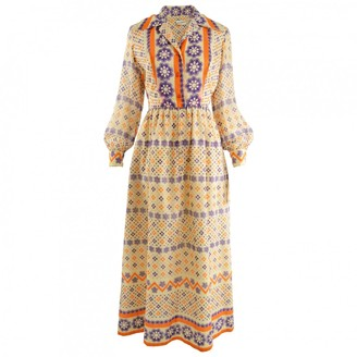 Saks Fifth Avenue Multicolour Cotton Dress for Women Vintage