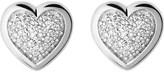 Links of London Diamond essentials silver and diamond heart stud earrings