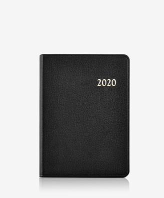 GiGi New York 2020 Notebook, Black Goatskin Leather