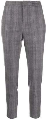 Barba check slim-fit trousers