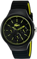 Lacoste Men's 'Borneo' Quartz Resin and Silicone Casual Watch, Color:Black (Model: 2010867)
