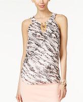 Thalia Sodi Embellished Split-Neck Top, Only at Macy's