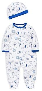 Little Me Boys' Blue Safari Footie & Cap Set - Baby
