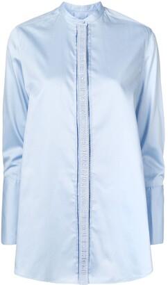 PortsPURE Mandarin-Collar Buttoned Shirt