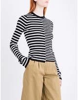 Mo&Co. Striped stretch-wool jumper