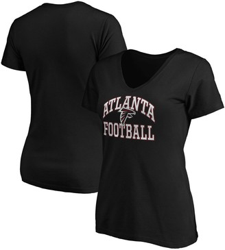 Majestic Women's Black Atlanta Falcons Showtime Franchise Fit V-Neck T-Shirt
