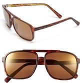 Maui Jim Men's 'Silversword - Polarizedplus2' 59Mm Polarized Sunglasses - Black/ Tortoise/ Neutral Grey