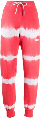 MSGM Tie-Dye Print Track Pants
