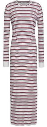 Pringle Striped Ribbed Merino Wool Maxi Dress