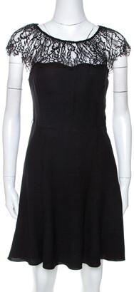 Ralph Lauren Polo by Black Crepe Lace Trim Detail Dress S