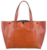 Vince Embossed Leather-Accented Tote w/ Tags