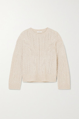 Vince Cable-knit Sweater - Cream