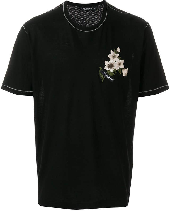 Dolce & Gabbana embroidered flower T-shirt