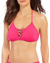 Gibson & Latimer Solid Lace-Up Bralette Top