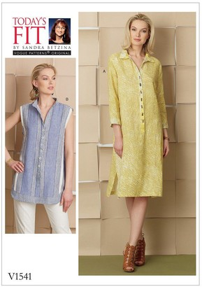 Vogue Women's Shirt and Dress Sewing Pattern, 1541