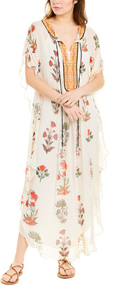 HEMANT AND NANDITA Caftan Silk Maxi Dress