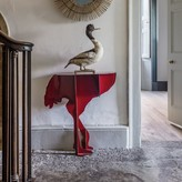 Graham and Green Red Ostrich Wall Console